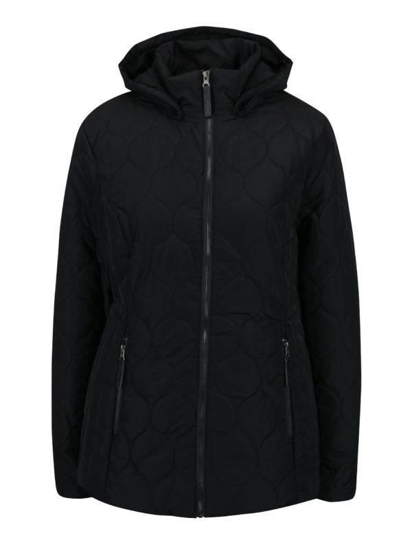 Čierna dámska vodoodpudivá prešívaná bunda LOAP Timea