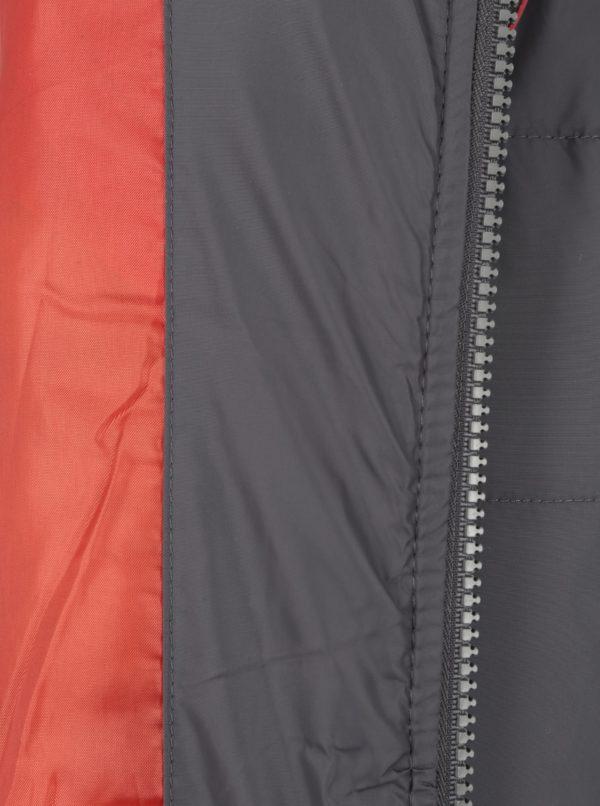 Hnedá chlapčenská prešívaná zimná bunda s umelým kožúškom 5.10.15.