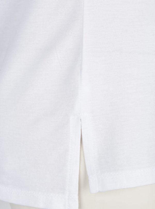 Biele tričko s náprsným vreckom a potlačou TALLY WEiJL