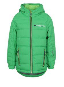 Zelená chlapčenská zimná funkčná vodovzdorná bunda LOAP Ortel
