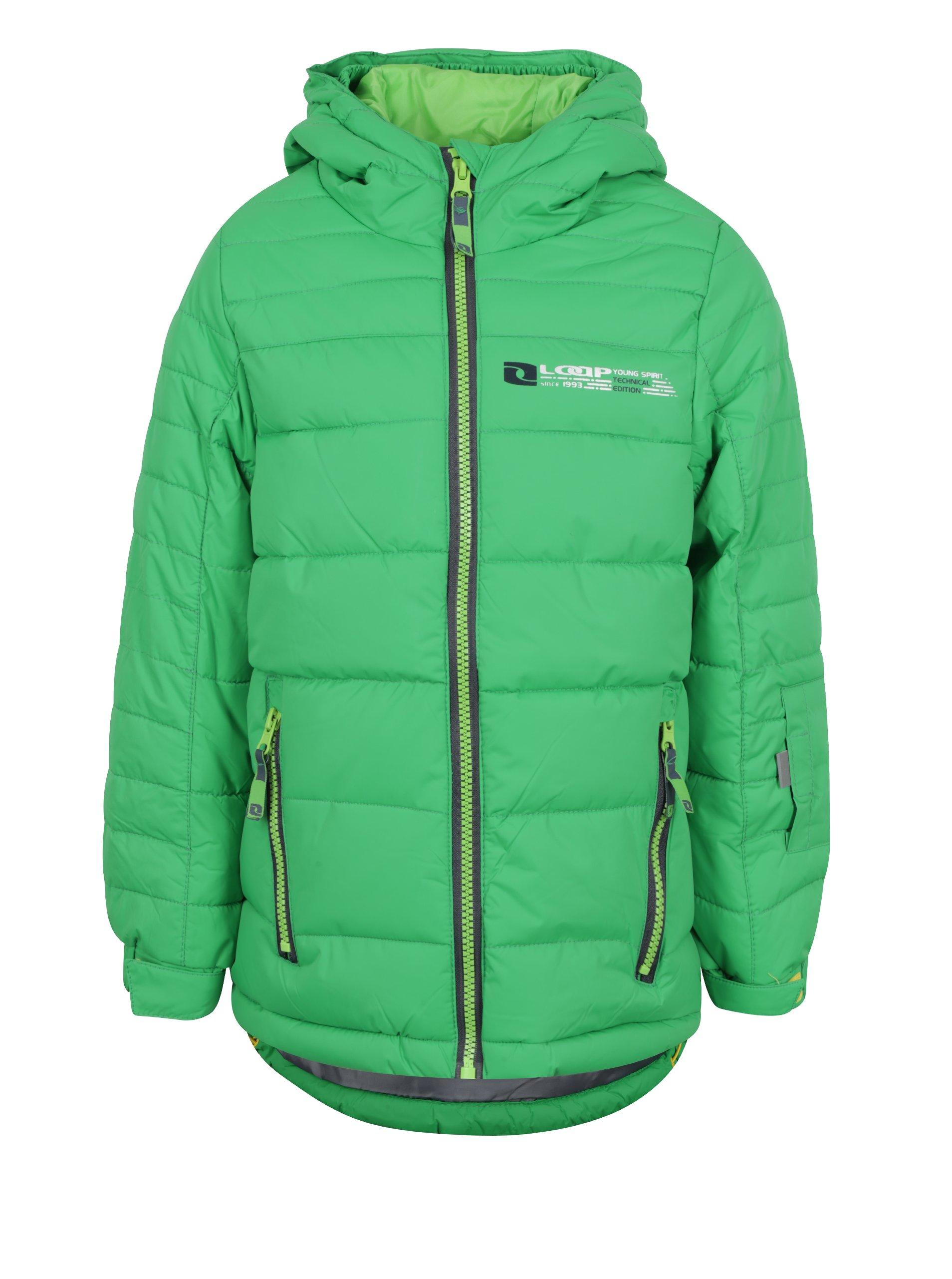5a59759c5 Zelená chlapčenská zimná funkčná vodovzdorná bunda LOAP Ortel | Moda.sk