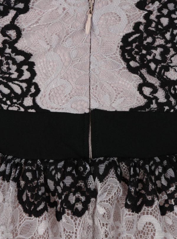 Béžové čipkované šaty Little Mistress  d6d8a1c0ebc