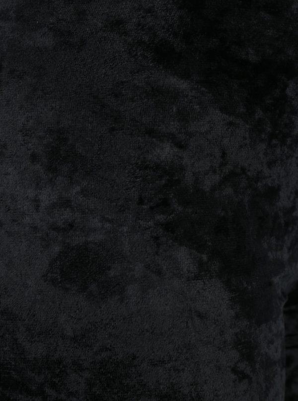 Čierne zamatové legíny Gipsy