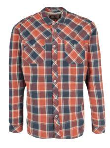 Modro-červená pánska kockovaná regular fit košeľa O'Neill