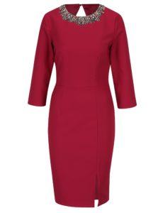 Ružové šaty s 3/4 rukávom Little Mistress