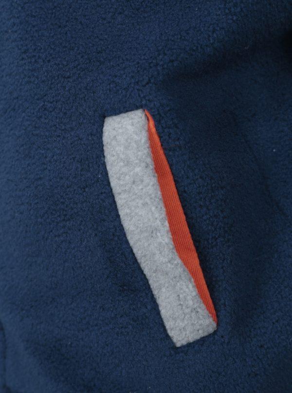 Sivo-modrá chlapčenská fleecová mikina s číslom na chrbte 5.10.15.