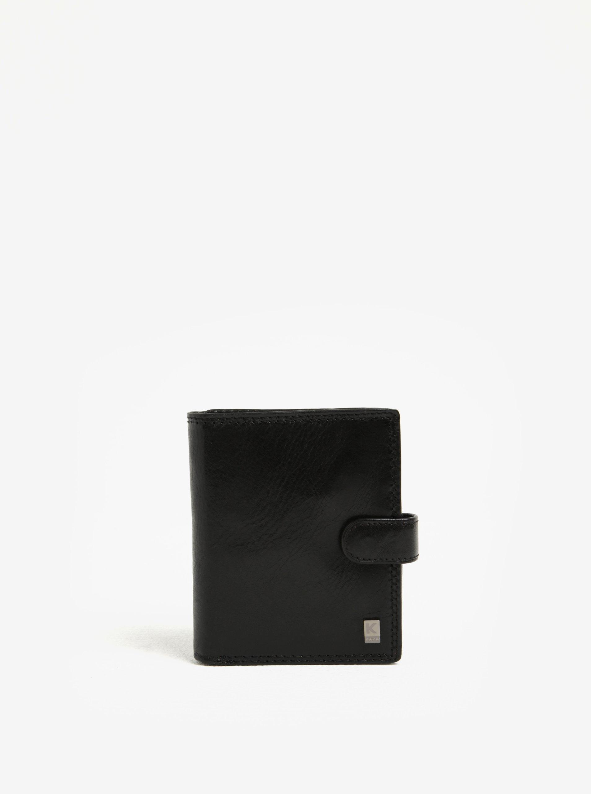 Čierna pánska kožená peňaženka KARA  d0dc4112142