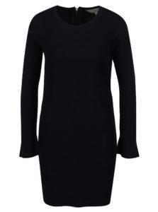 Tmavomodré svetrové šaty Dorothy Perkins Petite