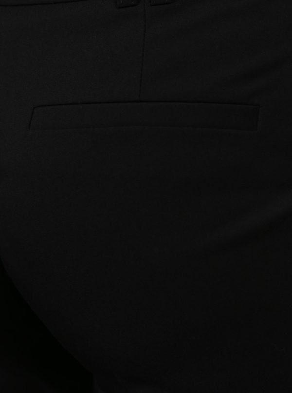 Čierne skrátené nohavice Dorothy Perkins Petite