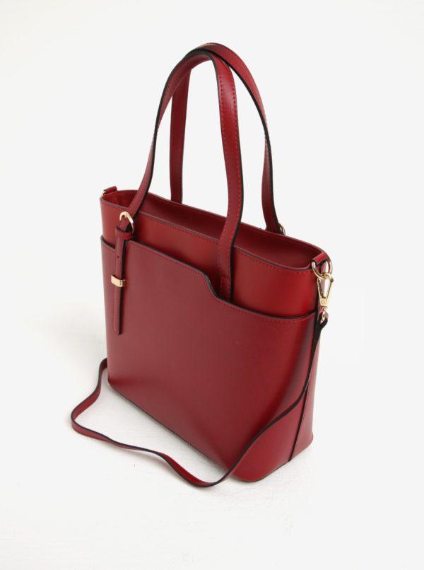 fb0e5abe4a Červená dámska kožená kabelka do ruky crossbody kabelka s hadím vzorom KARA
