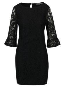 Čierne čipkované šaty Dorothy Perkins Petite
