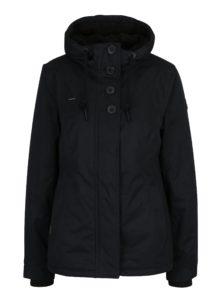 Čierna dámska bunda s kapucňou a gombíkmi Ragwear Lynx