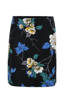Čierna kvetovaná sukňa Dorothy Perkins Petite