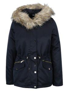 Tmavomodrá bunda s kapucňou Dorothy Perkins Petite