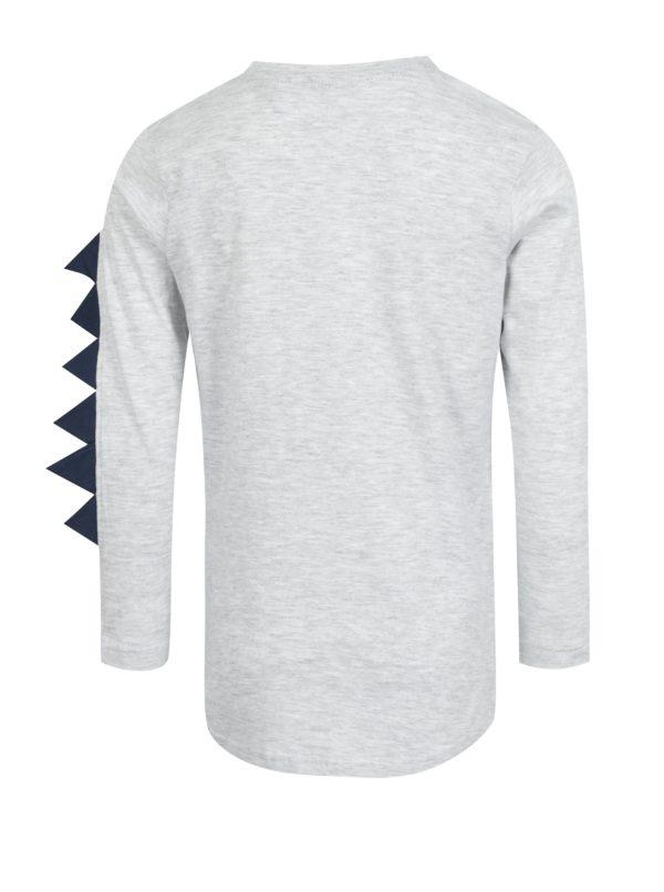 Sivé chlapčenské tričko s potlačou Blue Seven