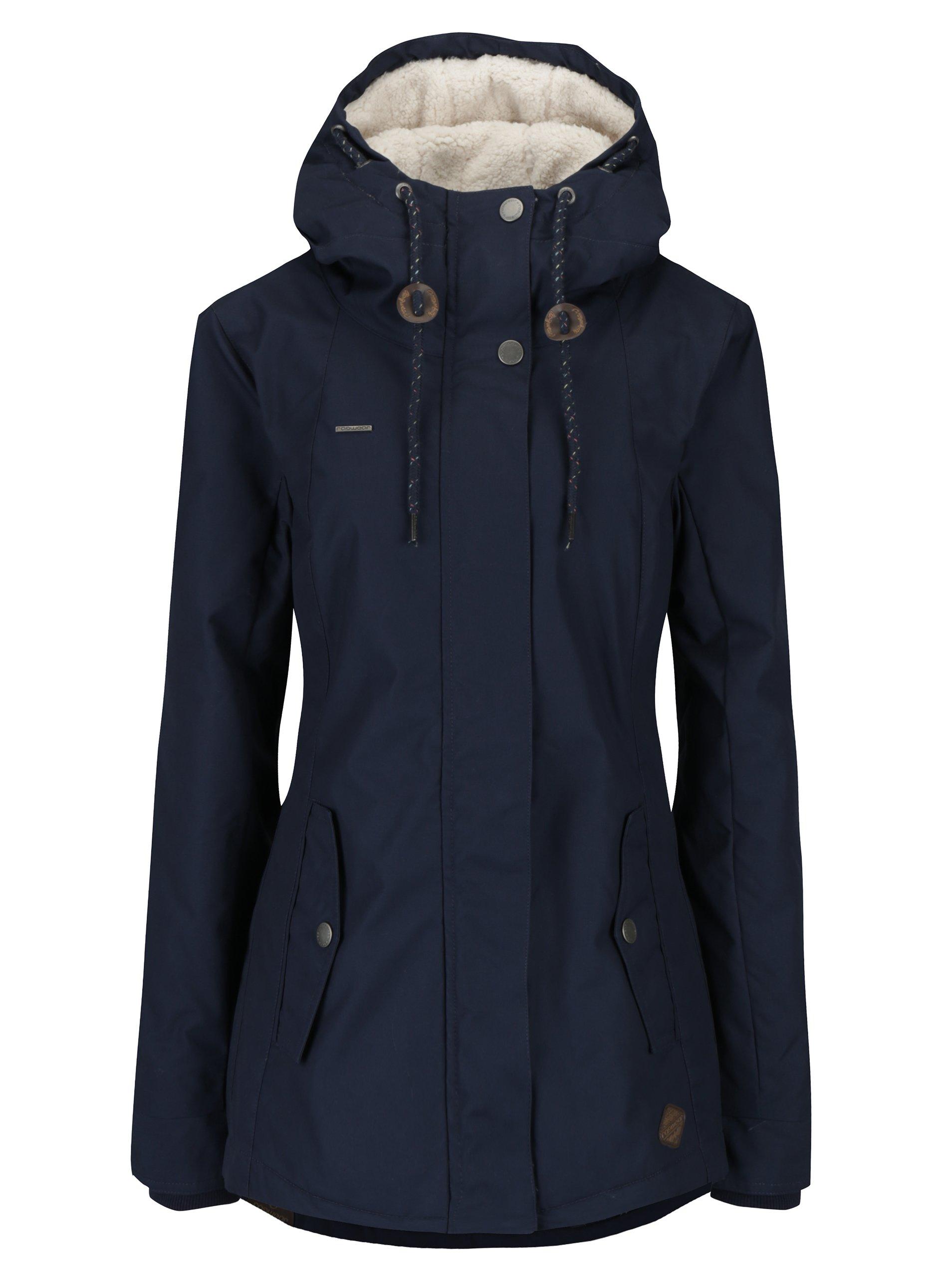 Tmavomodrá dámska zimná bunda Ragwear Monade  08bd4bc3737
