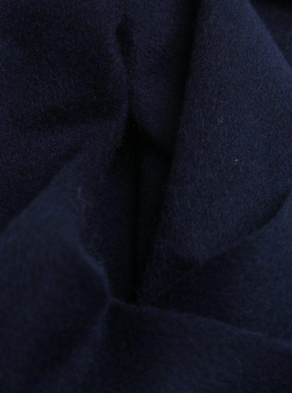 Tmavomodrý vlnený šál Selected Homme Tope