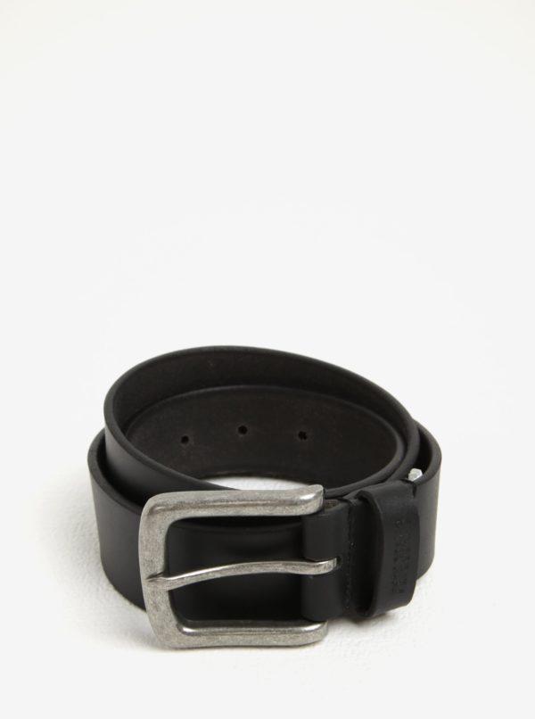 Čierny pánsky kožený opasok Pepe Jeans New Balkio