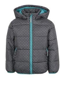 Tmavosivá chlapčenská zimná prešívaná bunda s kapucňou Blue Seven