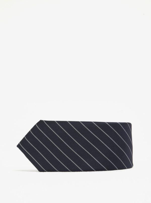 Modrá pruhovaná kravata Selected Homme Xin