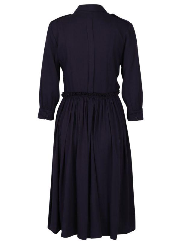 Tmavofialové košeľové šaty Fever London Margot