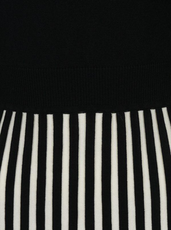 Čierne šaty s pruhovanou sukňou Fever London Lewes