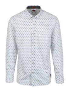 Biela pánska vzorovaná slim košeľa s dlhým rukávom s.Oliver