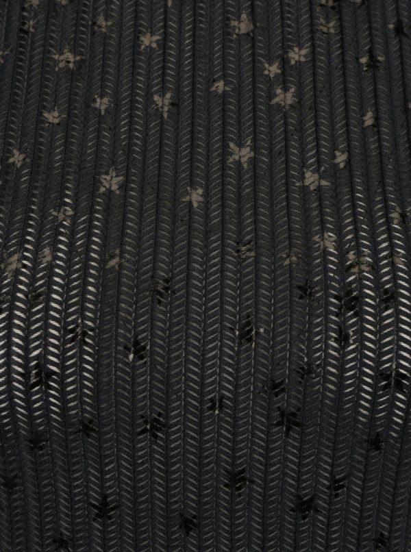 Čierny top s lesklým vzorom Rich & Royal