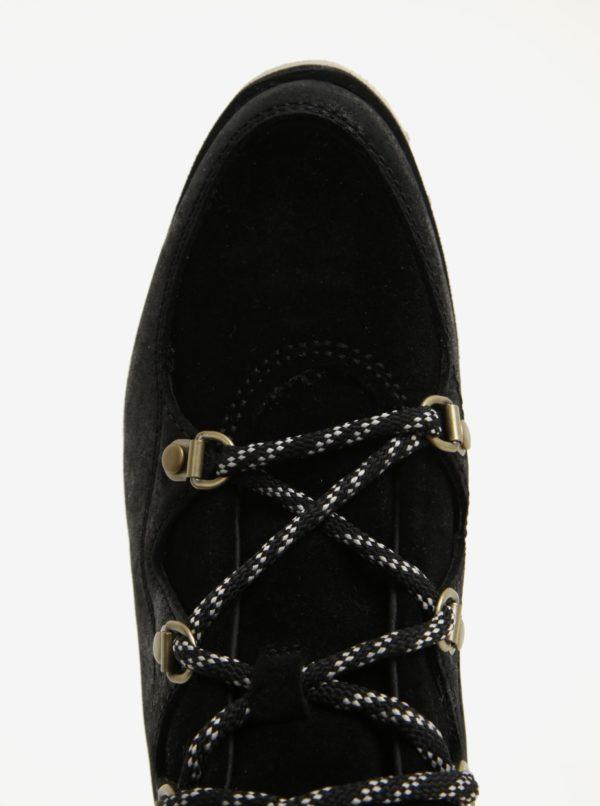 c5f2de64589ed Čierne dámske členkové kožené vodovzdorné zimné topánky SOREL | Moda.sk