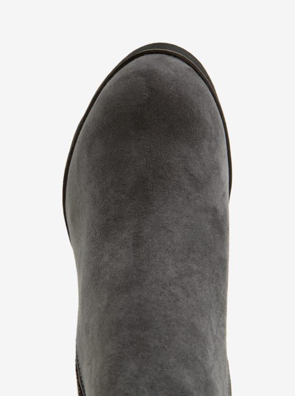 Sivé dámske členkové topánky na podpätku bugatti Elenor Evo