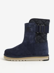 Modré semišové členkové vodovzdorné zimné topánky SOREL Newbie