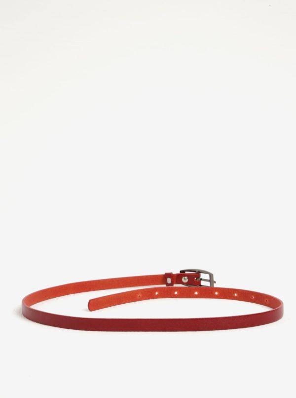 Červený dámsky úzky kožený opasok KARA