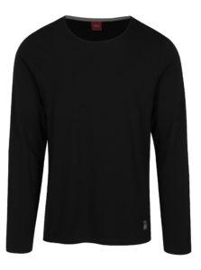 Čierne pánske tričko s dlhým rukávom s.Oliver