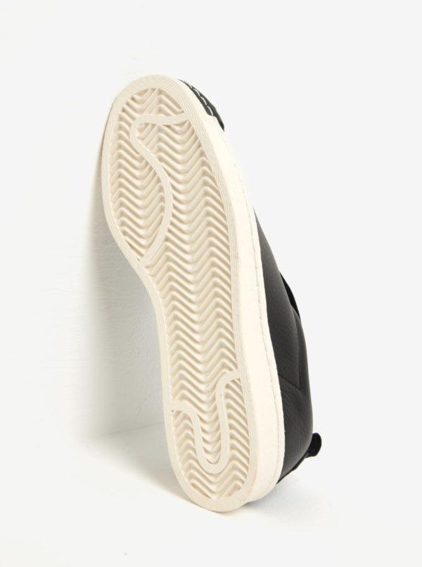 Čierne dámske kožené slip on adidas Originals Superstar