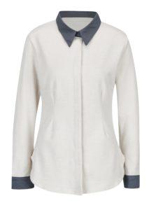 Krémová košeľa s dlhým rukávom La femme MiMi