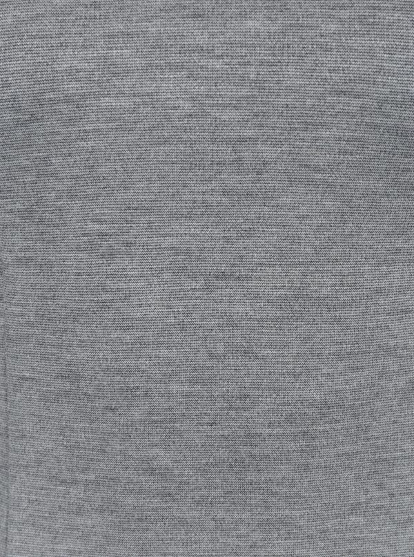 Sivý melírovaný top s prímesou hodvábu La femme MiMi