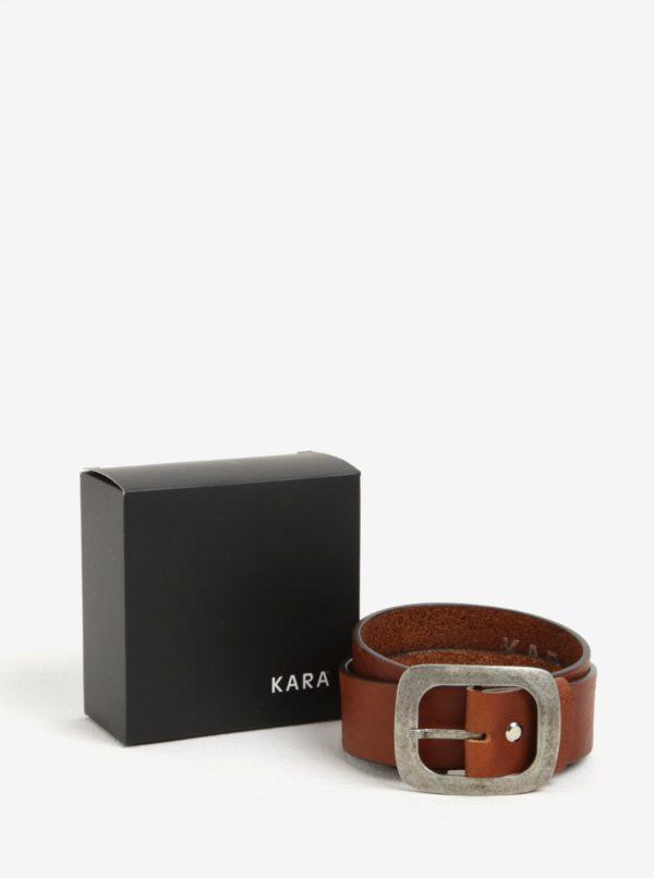 Hnedý dámsky kožený opasok KARA