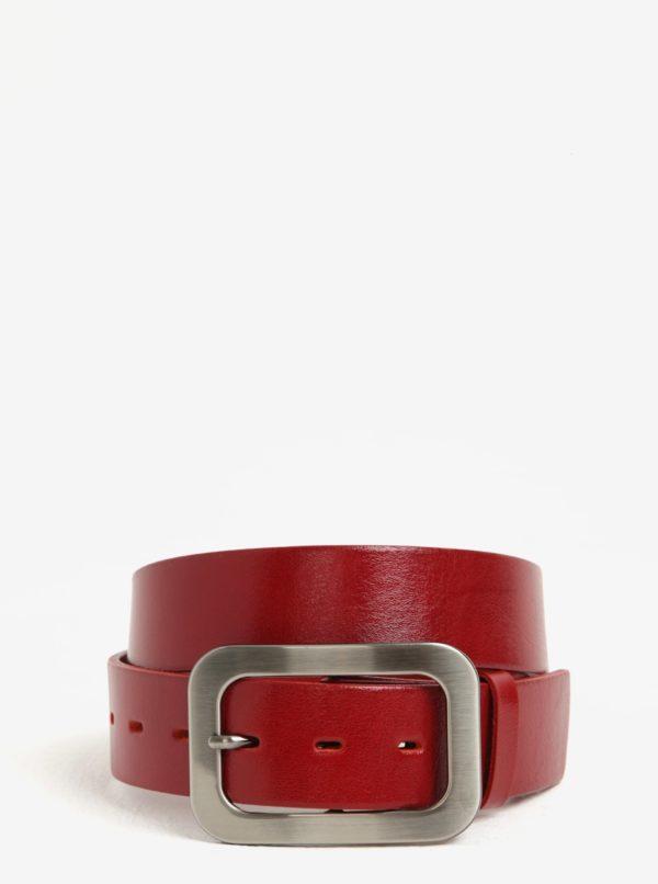 Červený dámsky kožený opasok KARA