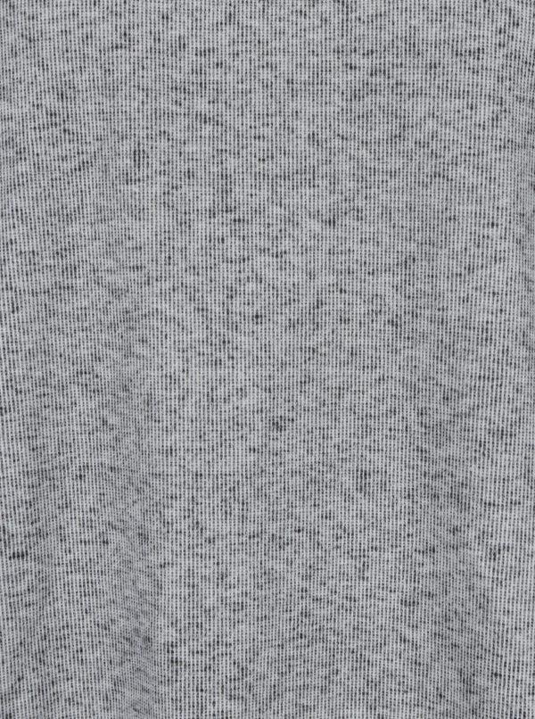 Svetlosivá melírovaná unisex mikina s nášivkou retro ľudí na chrbte La femme MiMi Teta Věra no.5