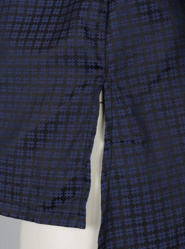 Čierna vzorovaná košeľa s priesvitnými rukávmi La femme MiMi