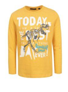 Žlté chlapčenské tričko s farebnou potlačou Blue Seven