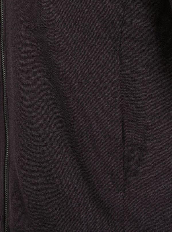 Vínový melírovaný slim fit bomber Jack & Jones Premium Robin