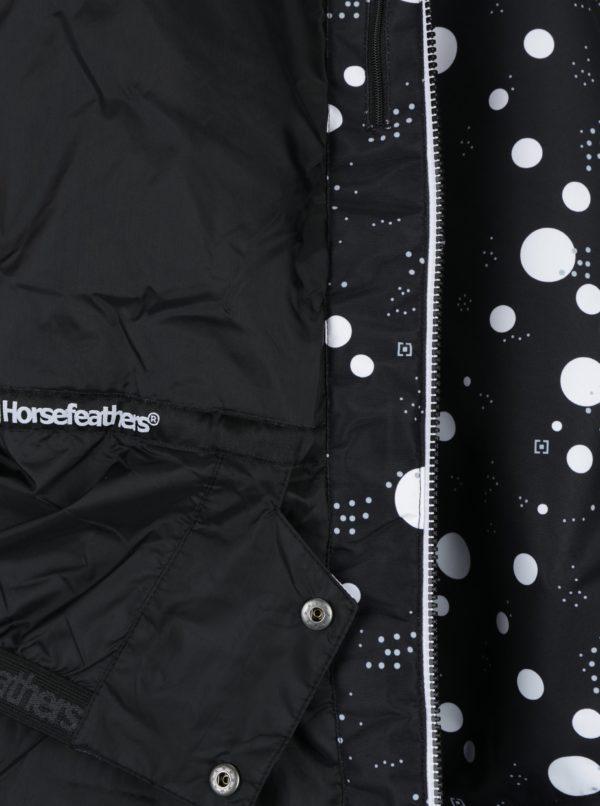 Bielo-čierna dámska bodkovaná zimná bunda Horsefeathers Fay