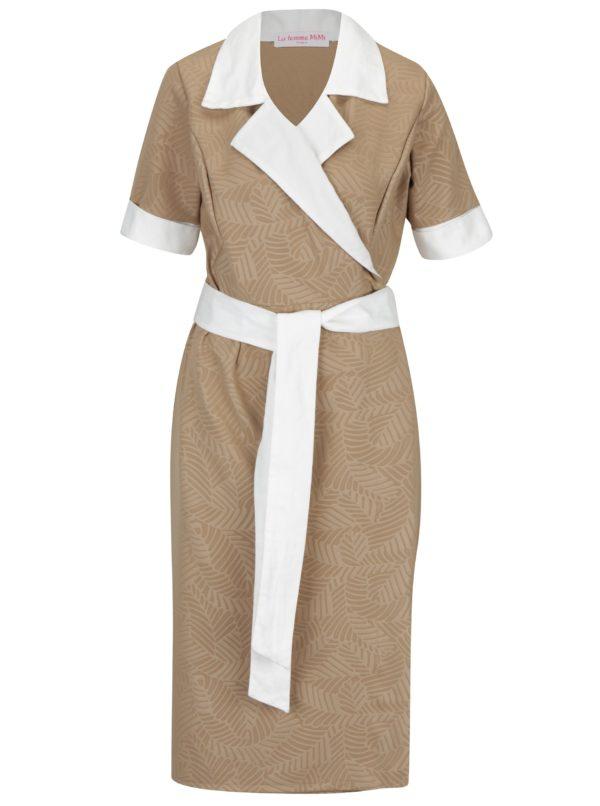 Béžové šaty na zavinovanie La femme MiMi