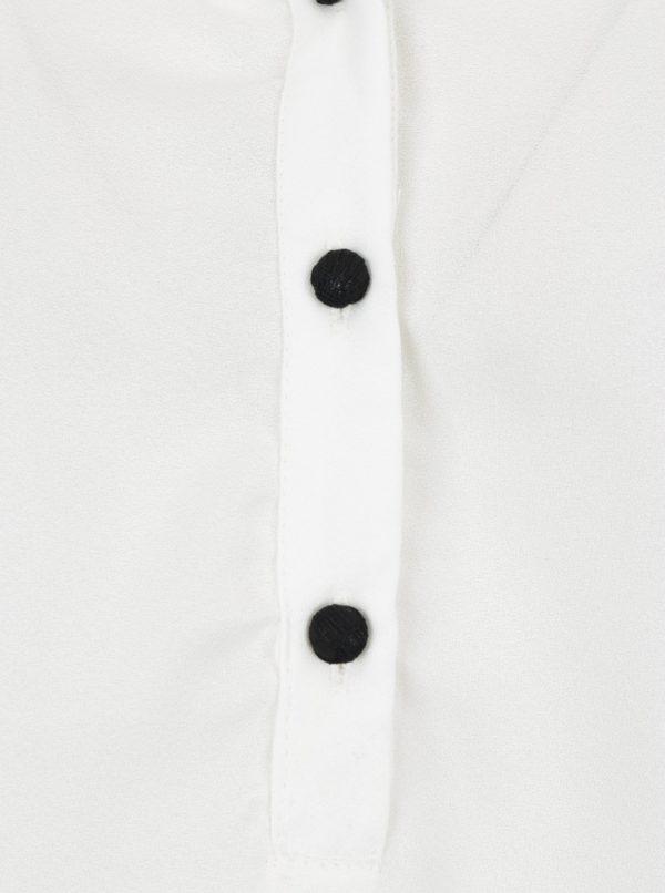 Biela blúzka s čipkovanými detailmi VERO MODA Sharpa