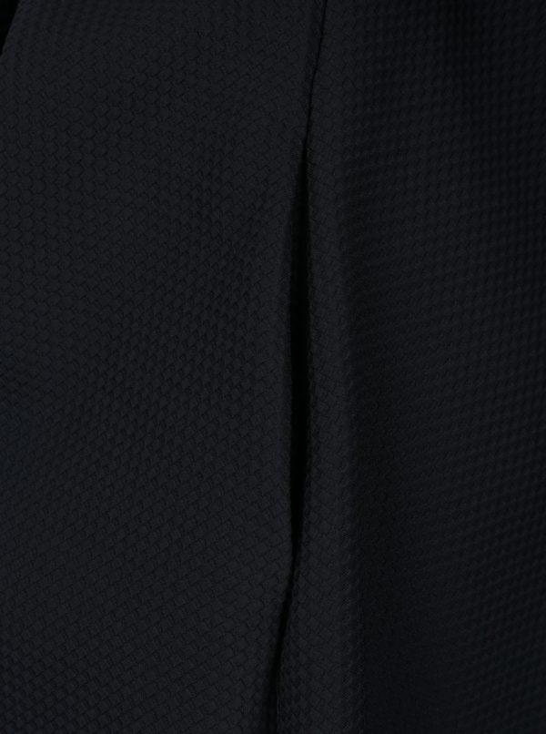 Tmavomodré šaty s golierikom La femme MiMi