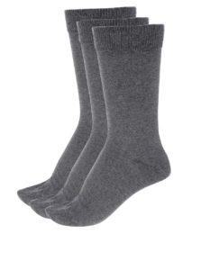 Súprava troch párov ponožiek v sivej farbe Selected Homme Cotton