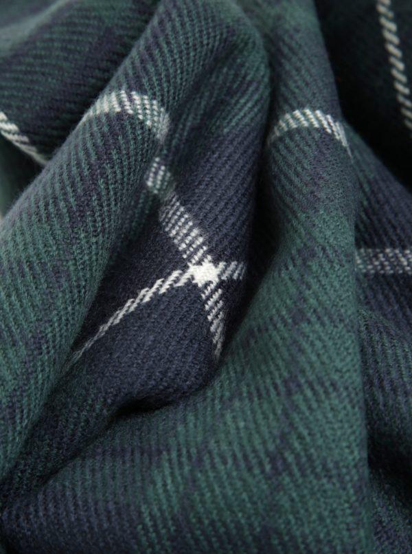 Modro-zelený károvaný šál Jack & Jones Danny