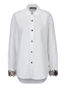 Krémová košeľa s nášivkami na rukávoch Scotch & Soda