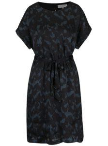 Čierne vzorované voľné šaty s prestrihom na chrbte Selected Femme Zenia 7efcf7eaf86